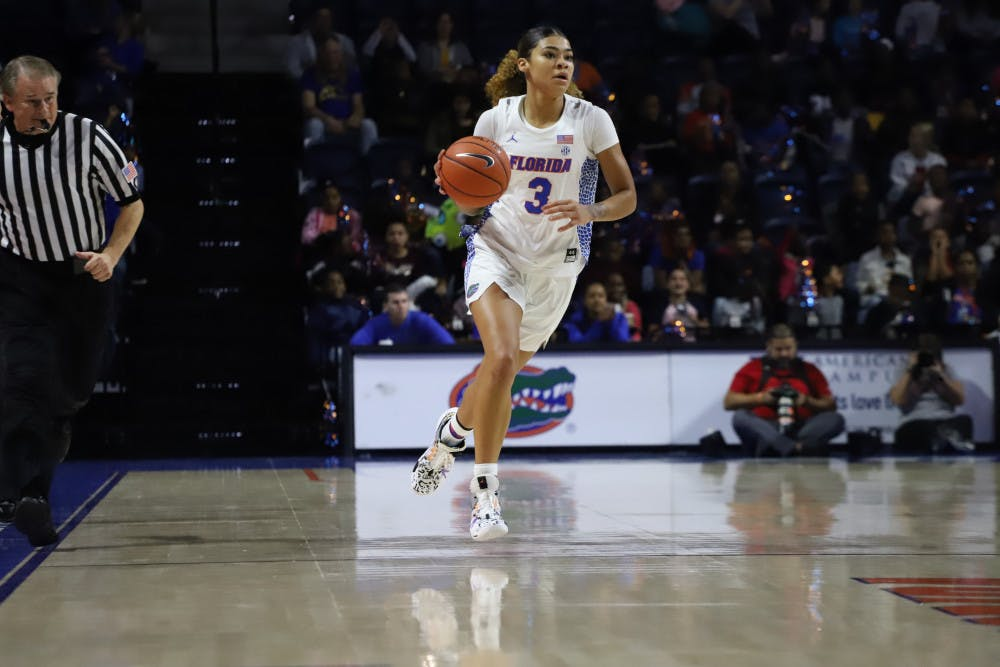 Florida guard Lavender Briggs led the team in scoring against Wake Forest with 23 points.