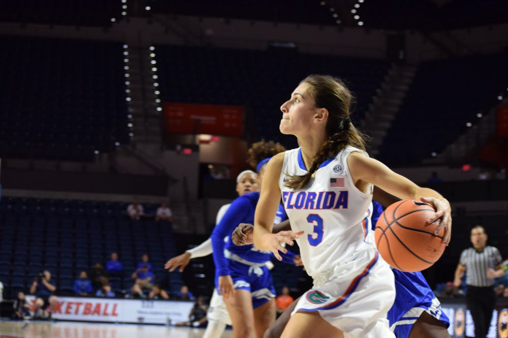 <p>Before she suffered the injury, Funda Nakkasoglu led the Gators to their second win of the season against the Richmond Spiders, 87-80, in their opening game of the Savannah Invitational, scoring a season-high 25 points.</p>