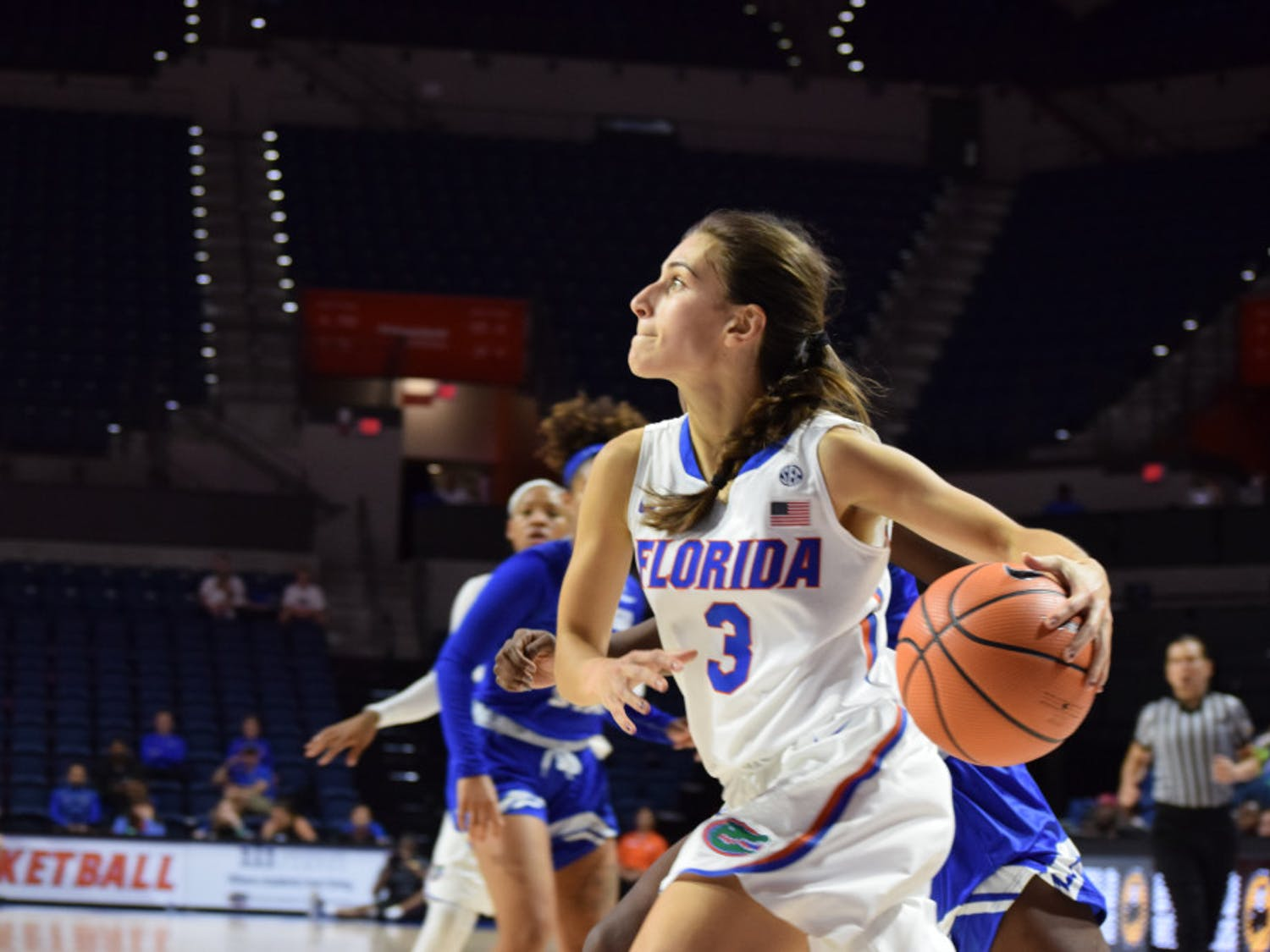 Before she suffered the injury, Funda Nakkasoglu led the Gators to their second win of the season against the Richmond Spiders, 87-80, in their opening game of the Savannah Invitational, scoring a season-high 25 points.