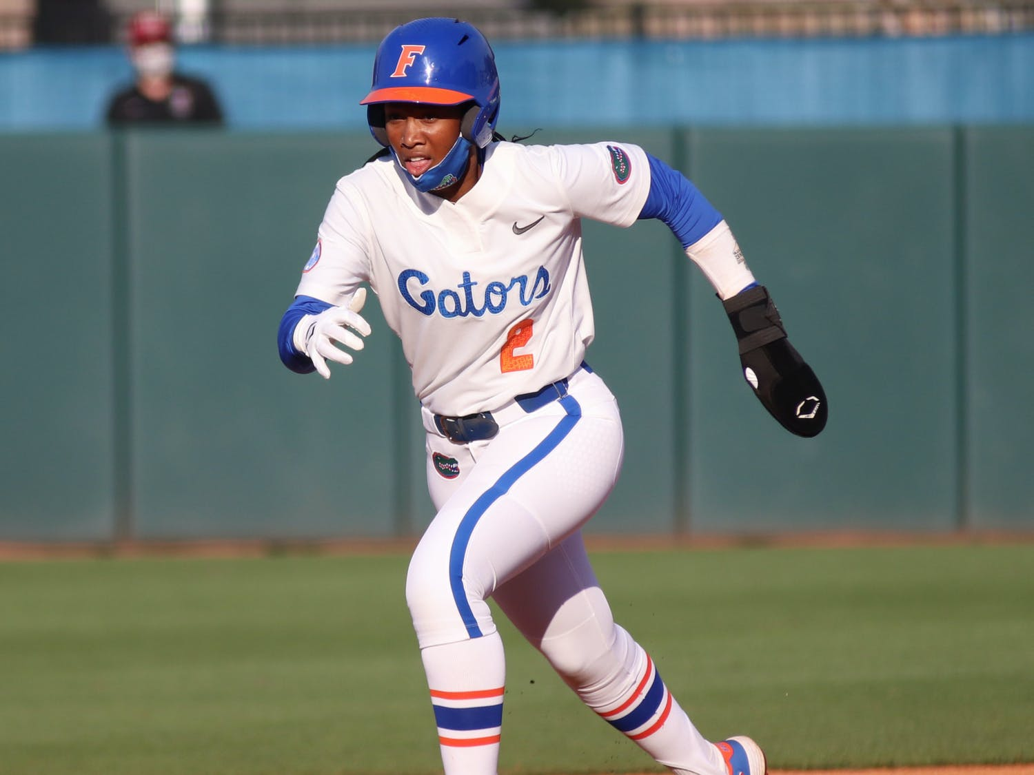 Five innings later, Echols knocked in UF's last run of the day and scored Cheyenne Lindsey on a walk. Photo from UF-FSU game March 3.
