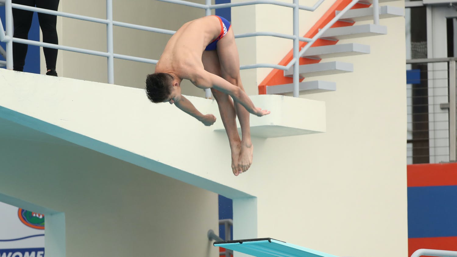 Florida's Leo Garcia during the Gators' meet against the Miami Hurricanes on Thursday, November 5, 2020 at the Stephen C. O'Connell Center Natatorium in Gainesville, FL (UAA Communications photo by Isabella Marley)