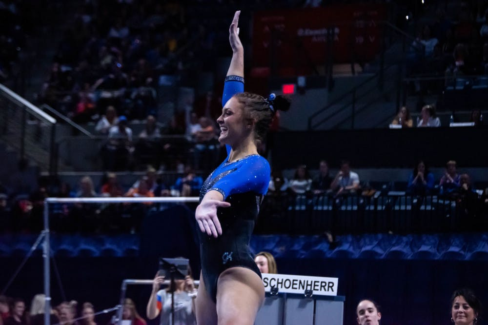 <p>Florida&#x27;s Savannah Schoenherr discussed her team&#x27;s emphasis on staying calm ahead of a blockbuster showdown against No. 2 LSU on Friday</p>