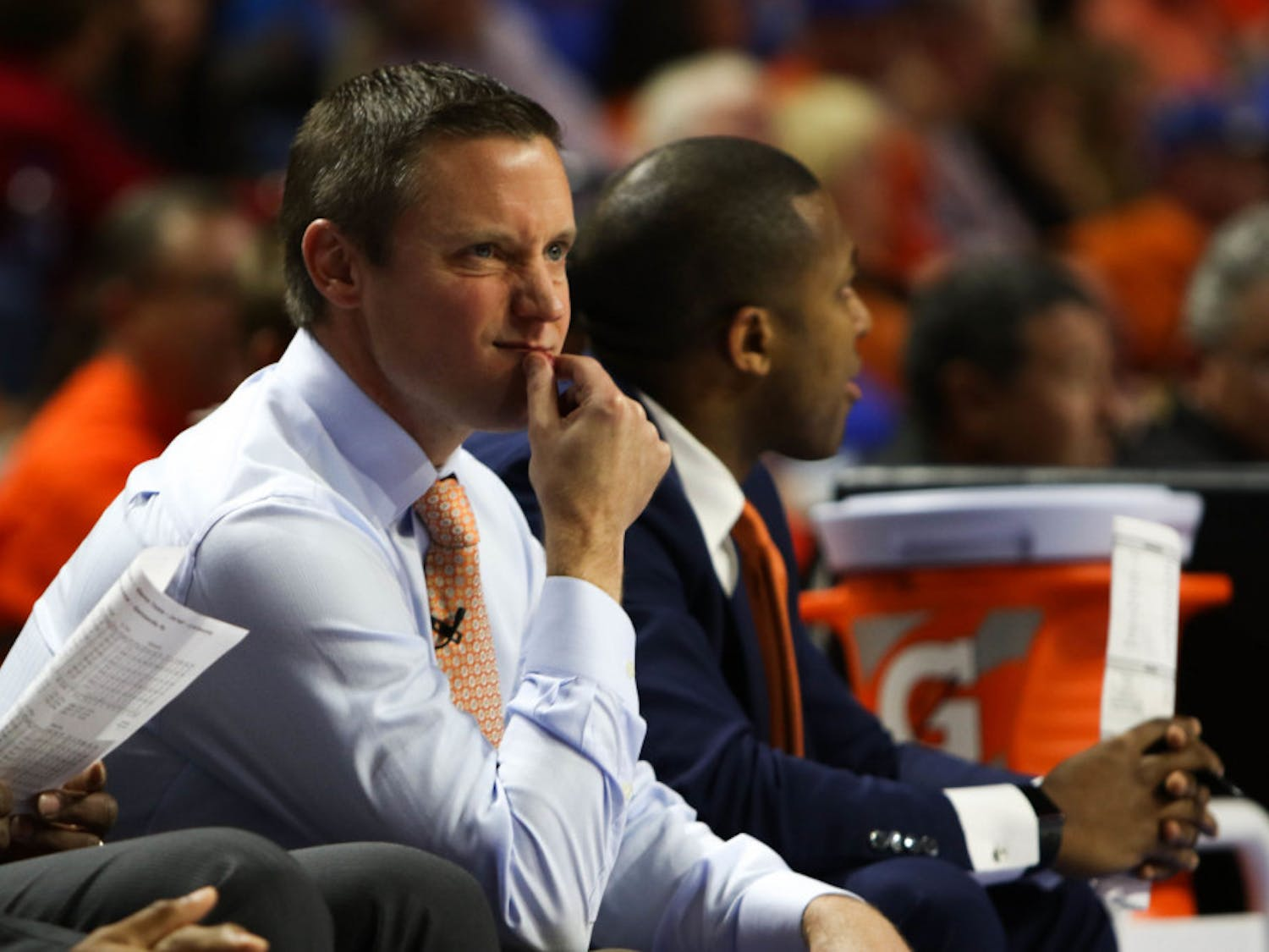Men's basketball coach Mike White and the Gators are in the middle of one of the worst offensive seasons in the past 20 years. They are averaging 68.7 points a game, the second lowest in that span.
