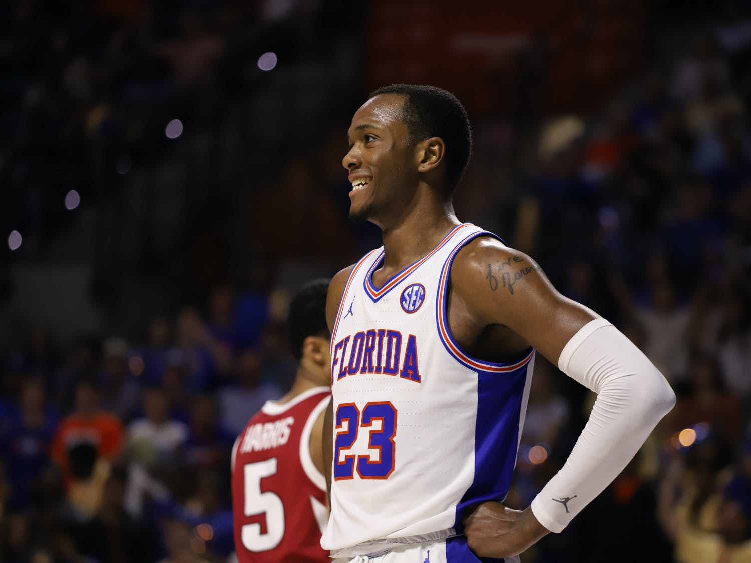Former Gator Scottie Lewis was drafted by the Charlotte Hornets 56th overall in the 2021 NBA Draft early Friday morning.