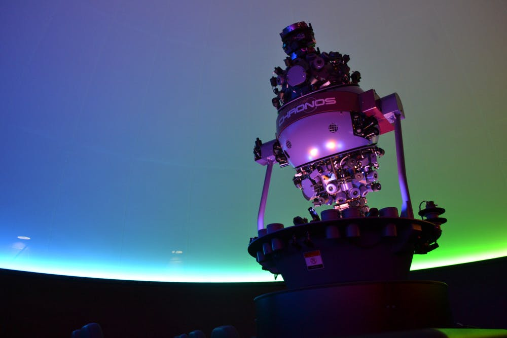 """<div>Worth $375000, director of the Kika Silva Pla PlanetariumJames Albury often says thatthe Chronos Projector is worth more than his house. This projector is the first of its kind to set the exact time and location of constellations.</div><p dir=""""ltr""""></p>"""