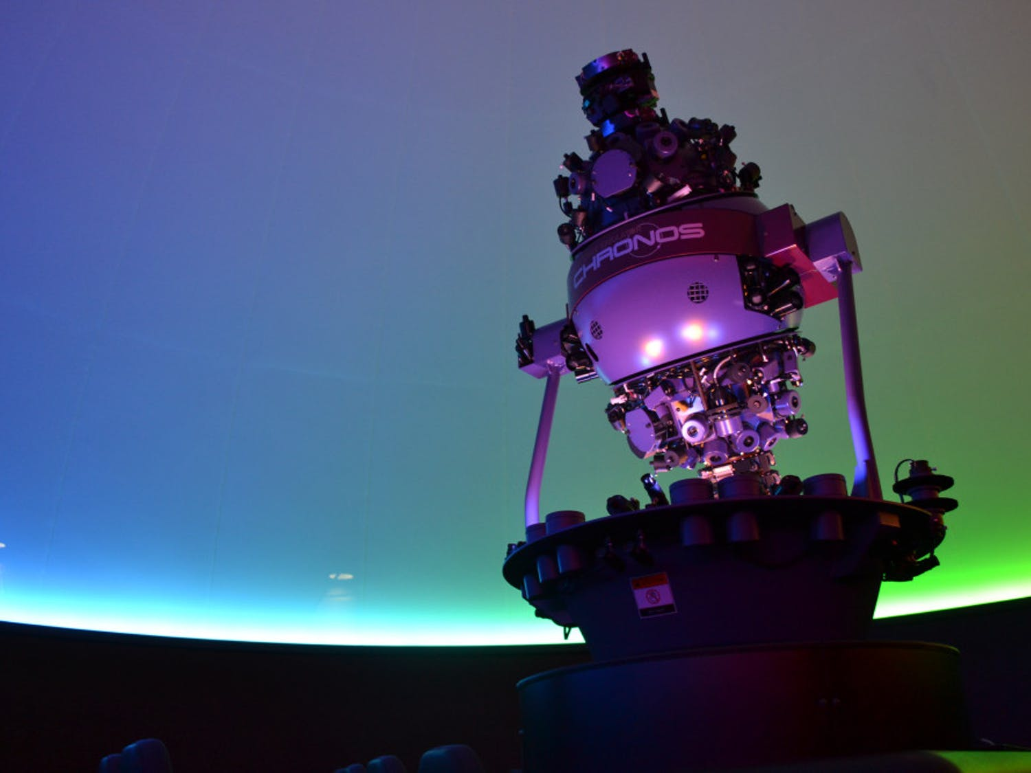Worth $375000, director of the Kika Silva Pla Planetarium James Albury often says that the Chronos Projector is worth more than his house. This projector is the first of its kind to set the exact time and location of constellations.