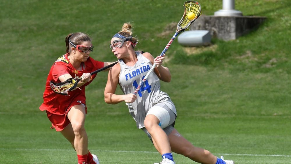 <p>Junior attacker Lindsey Ronbeck scored the first two goals of the game on Saturday, but it wasn't enough as the Gators fell to James Madison, 11-8.</p>