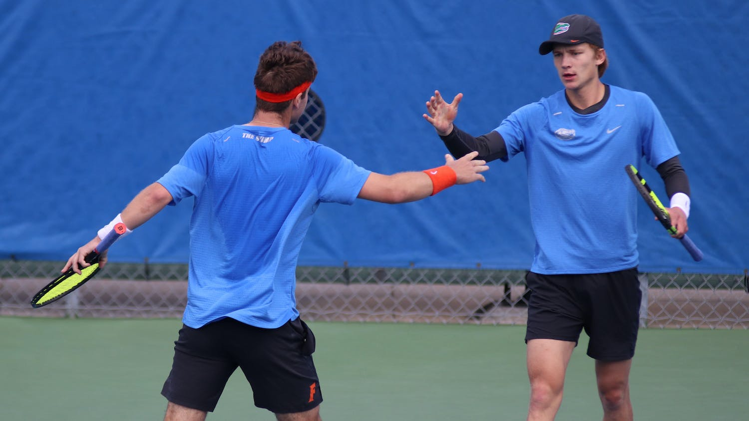 The Gators claimed the SEC title Sunday. Photo from UF-Auburn match Feb. 21.