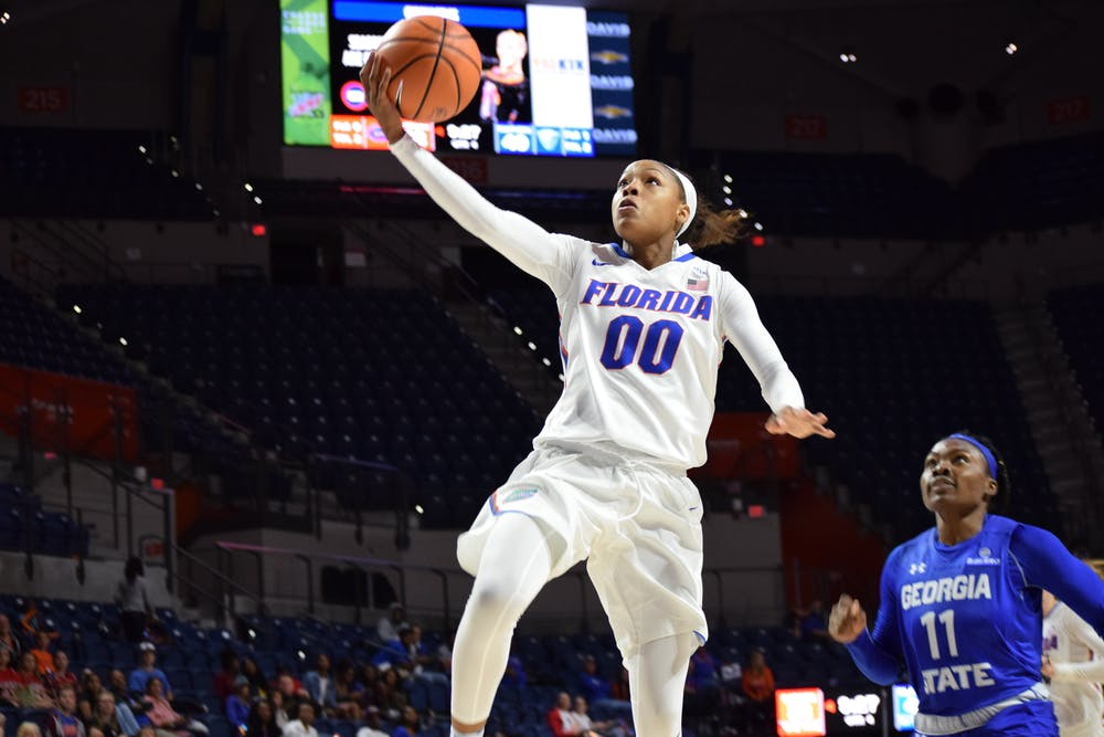 <p>Guard Delicia Washington released her potential game-winning layup too late as time expired in regulation. Florida went to overtime with Northwestern and lost, 83-74.</p>