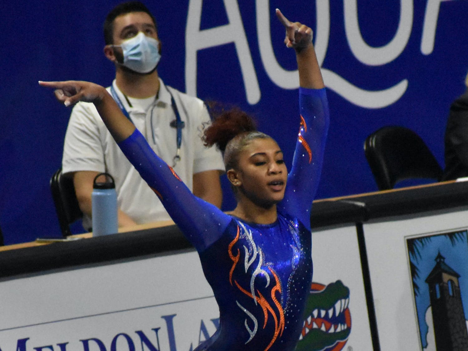Junior Trinity Thomas performs a floor routine Jan. 29 against Missouri
