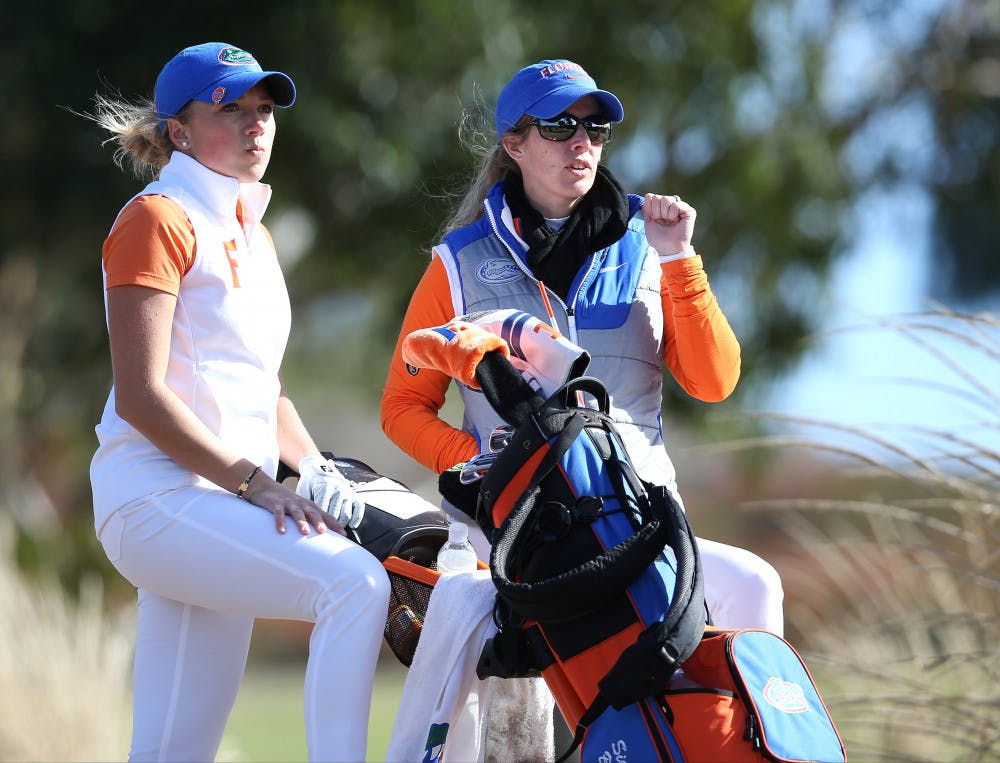 <p>Coach Emily Glaser (right) and sophomore Sierra Brooks (left) will round out the regular season starting today in Athens, Georgia.</p>