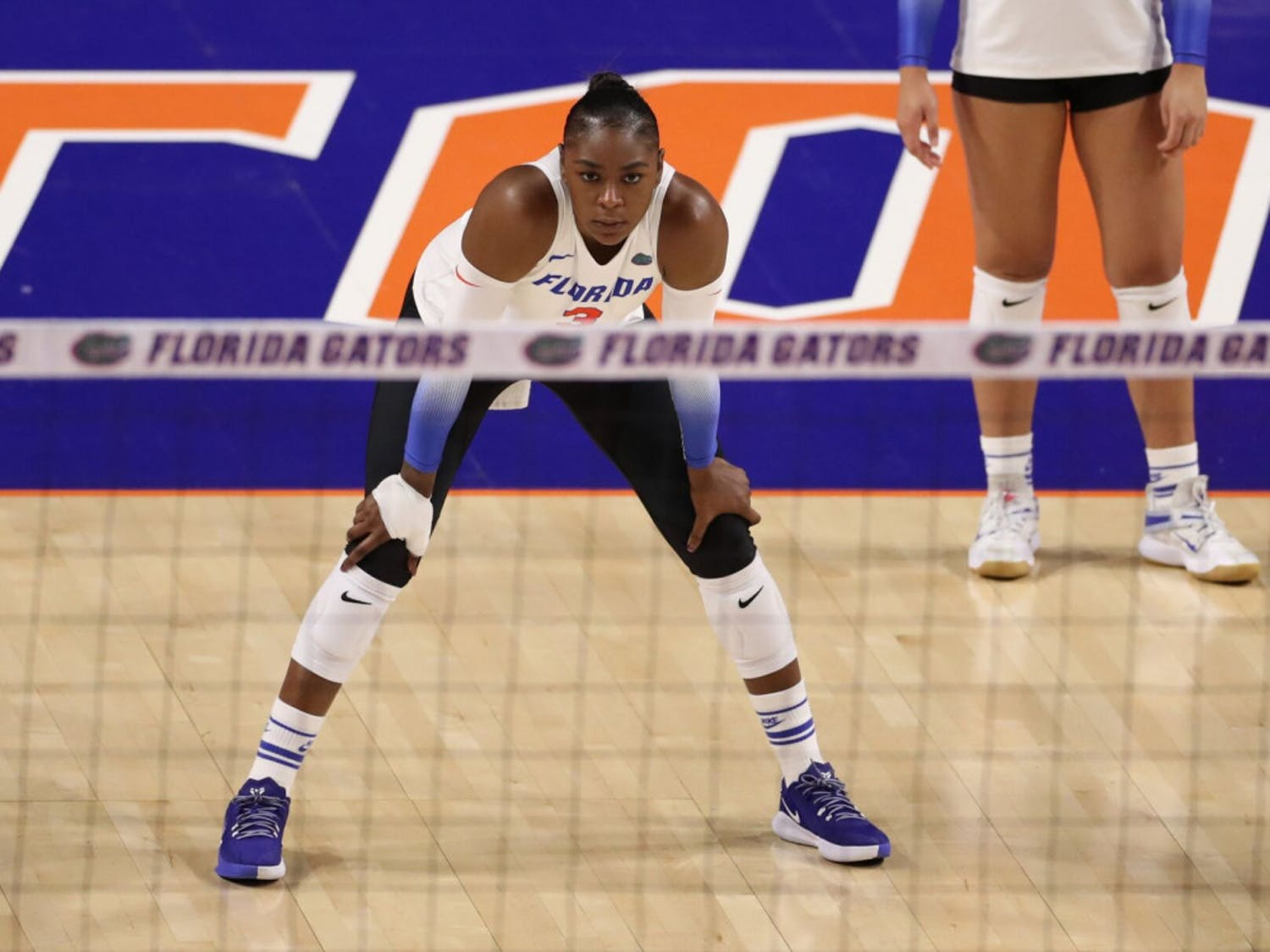 Outside hitter T'ara Ceasar during the Gators' match against the Georgia Bulldogs on Friday, November 20, 2020 at Exactech Arena at the Stephen C. O'Connell Center in Gainesville, Florida.