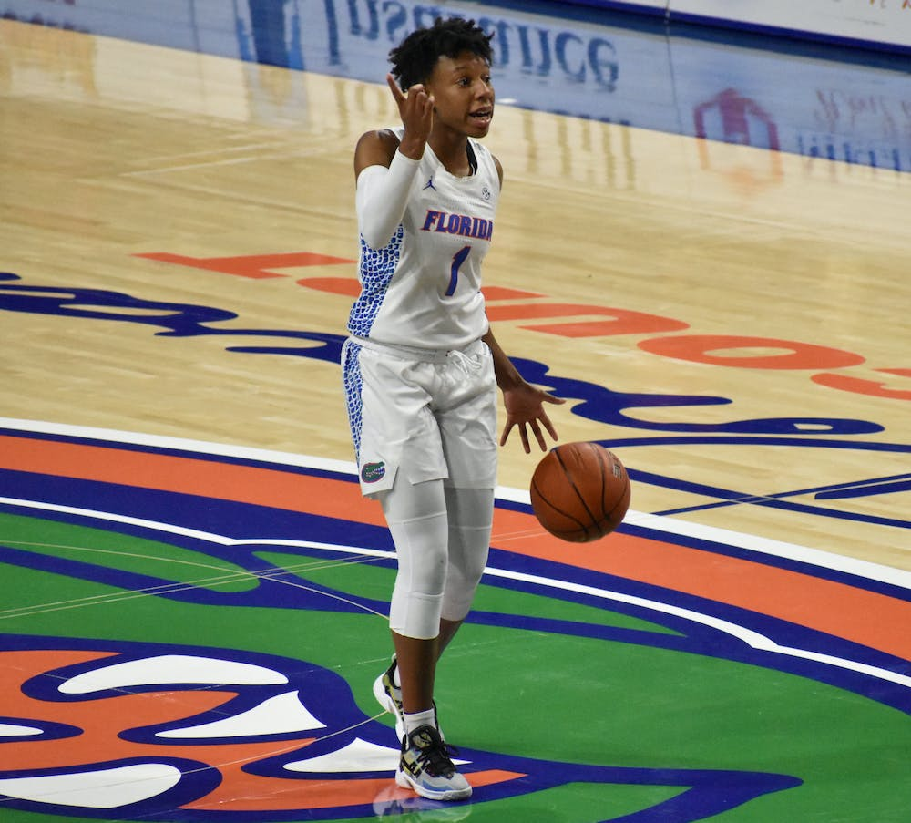 Guard Kiara Smith led the Gators to victory over Auburn in the SEC Tournament game Wednesday. The Gators will now face No.5-seed Kentucky Thursday.