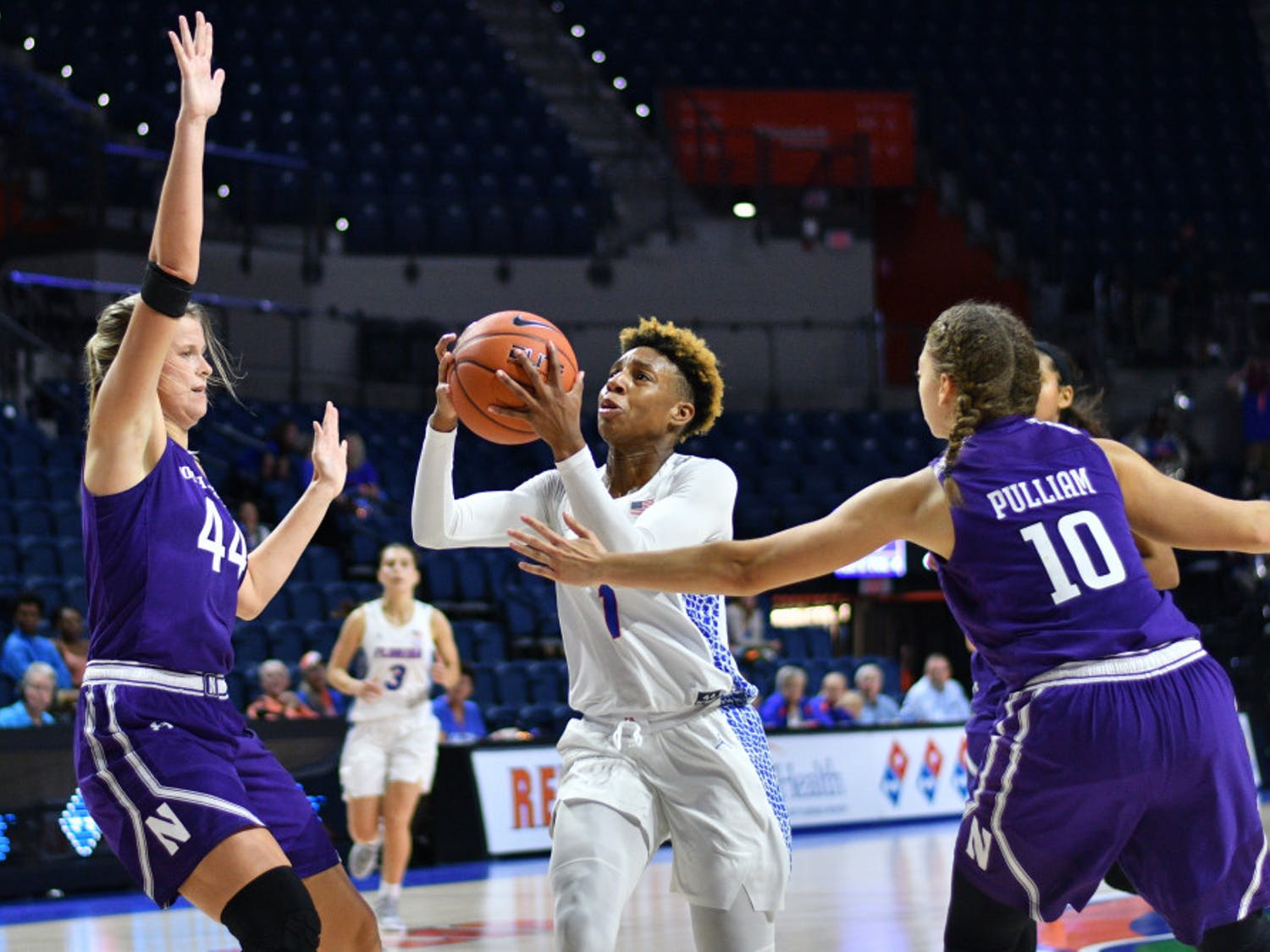 Florida guard Kiara Smith led the team with 13 points on 4-of-7 shooting during UF's 71-40 loss to South Carolina on Thursday.