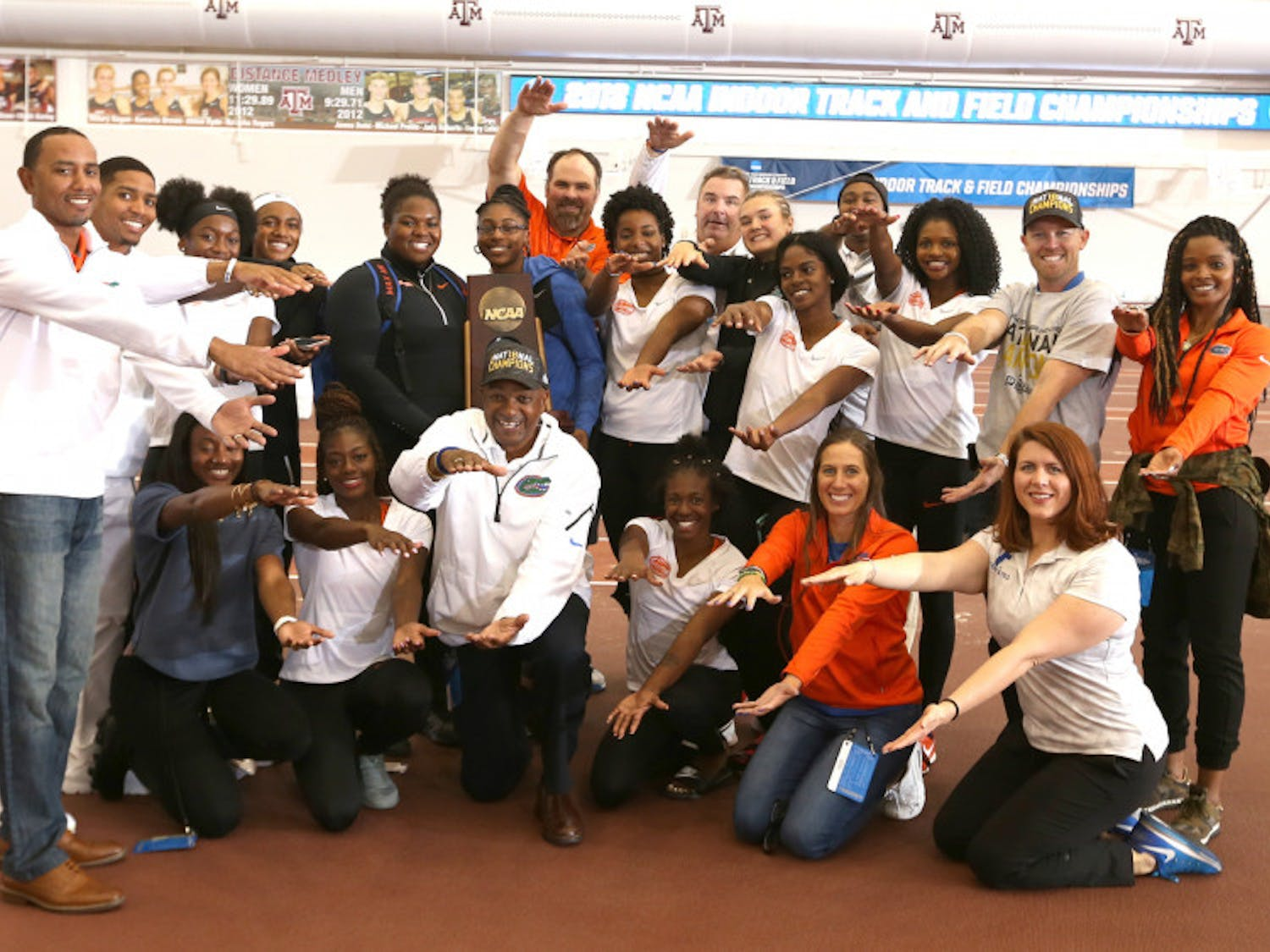 The UF men's and women's track and field teams both took first and fourth, respectively, at the NCAA Indoor Championships in Fayetteville, Arkansas.