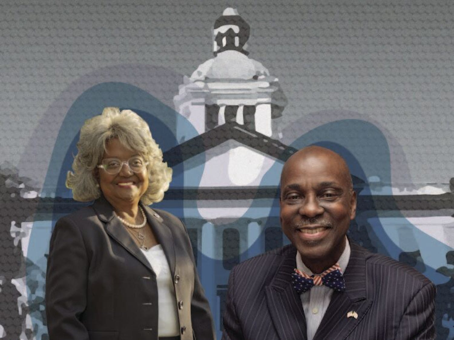 Candidates Yvonne Hinson (left) and Rodney Long (right)are vying for this year's Florida State House of Representatives District 20 seat.