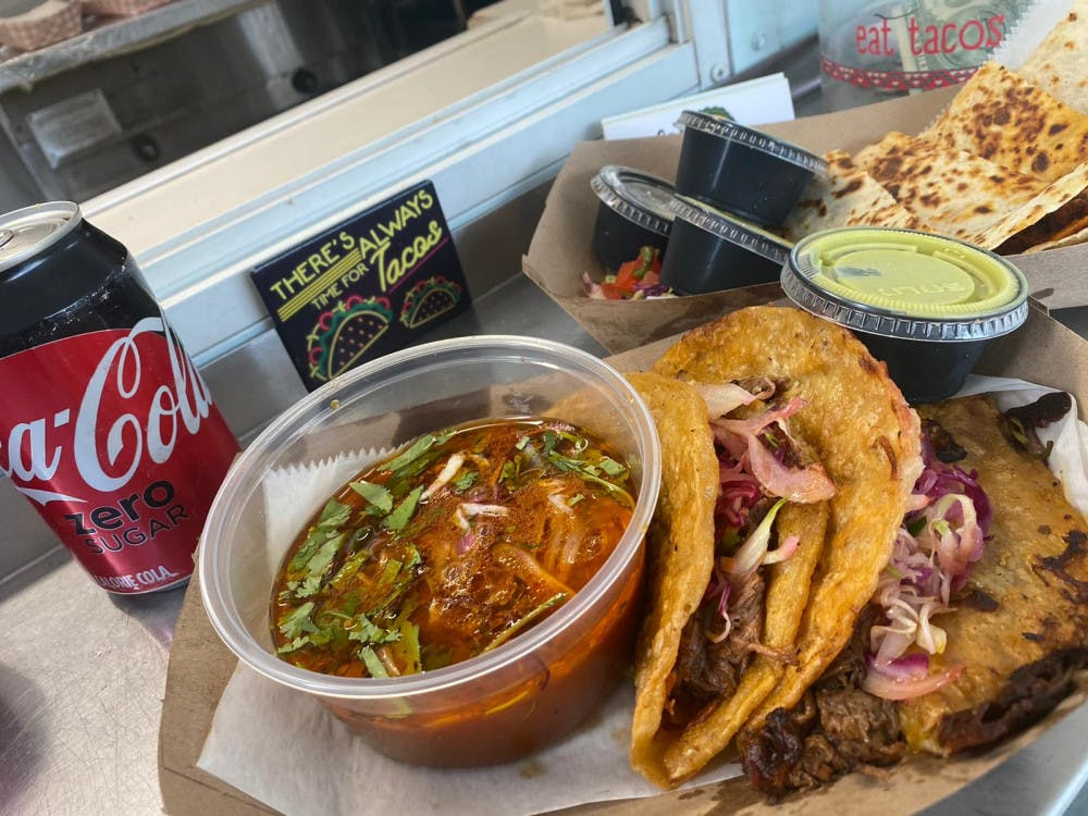 """<p><span id=""""docs-internal-guid-74537161-7fff-5d03-c5c5-a0b9b645ced8""""><span>The chile-seasoned tacos are a Mexican dish traditionally cooked with mutton and served with a broth stew called consomé.</span></span></p>"""