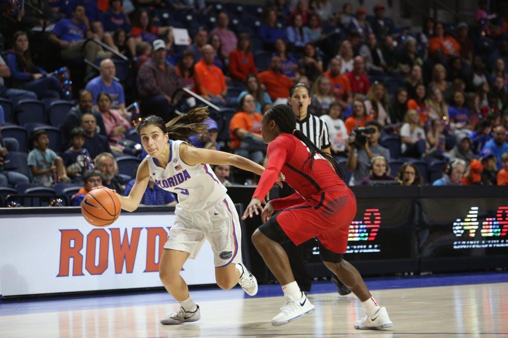 "<p><span id=""docs-internal-guid-6193c4be-9e42-10a7-cba7-ab43c1a52a04""><span>Despite guard Funda Nakkasoglu's 24-point performance against Texas A&amp;M on Thursday, the Florida women's basketball team fell to the Aggies 85-80.</span></span></p>"