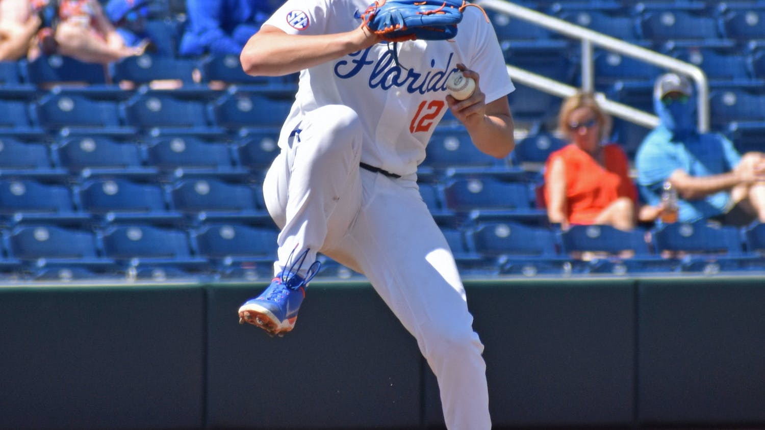 Hunter Barco against Jacksonville University on March 14. The Gators kick off the SEC Tournament Tuesday against Kentucky.