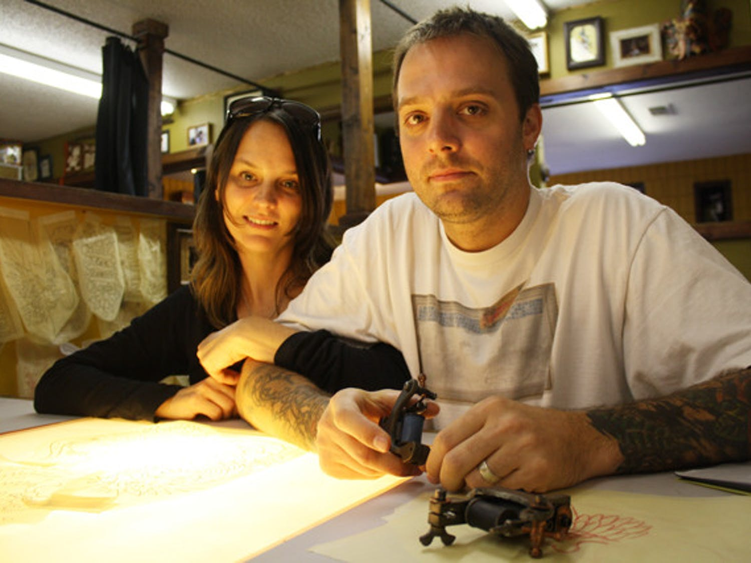 Mike Salay and his wife, Samantha, took over ownership of Anthem Tattoo Parlor on Sept. 2.
