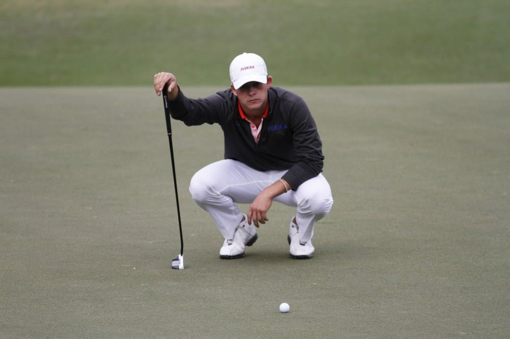 <p>Senior Gordon Neale finished in last place (7 over par) among the five UF golfers that participated in the team event at the Gators Invitational.&nbsp;</p> <p><span>&nbsp;</span></p> <p><span>&nbsp;</span></p>