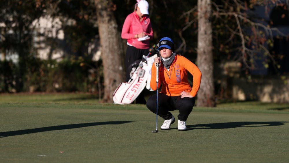 <p>Sophomore Marta Perez was one of two Gators to win their respective matchups in Florida's</p>