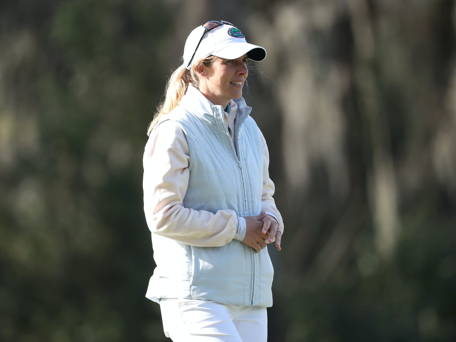 Florida Gators women's golf coach Emily Glaser on Monday, February 22, 2021 at the Mark Bostick Golf Course in Gainesville, FL. The women's golf team released its schedule for 2021-22 season Friday. Photo courtesy of the UAA.
