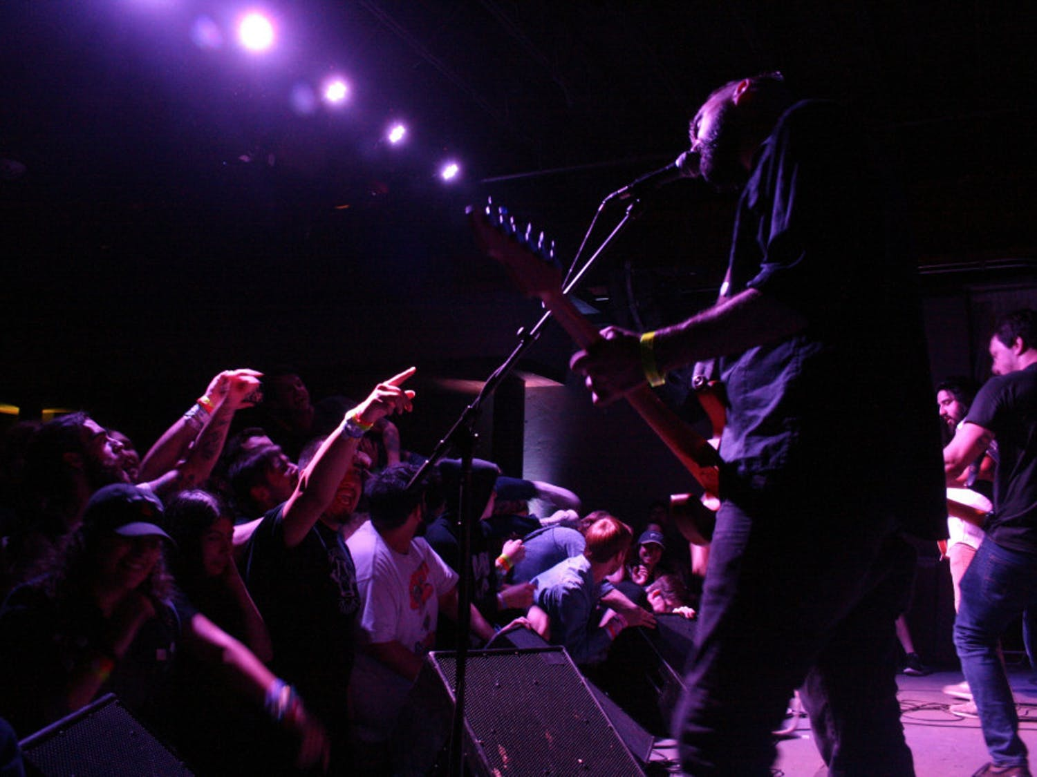 Dikembe, a popular local punk band, performed at The Wooly Saturday night during the only sold-out Fest show.