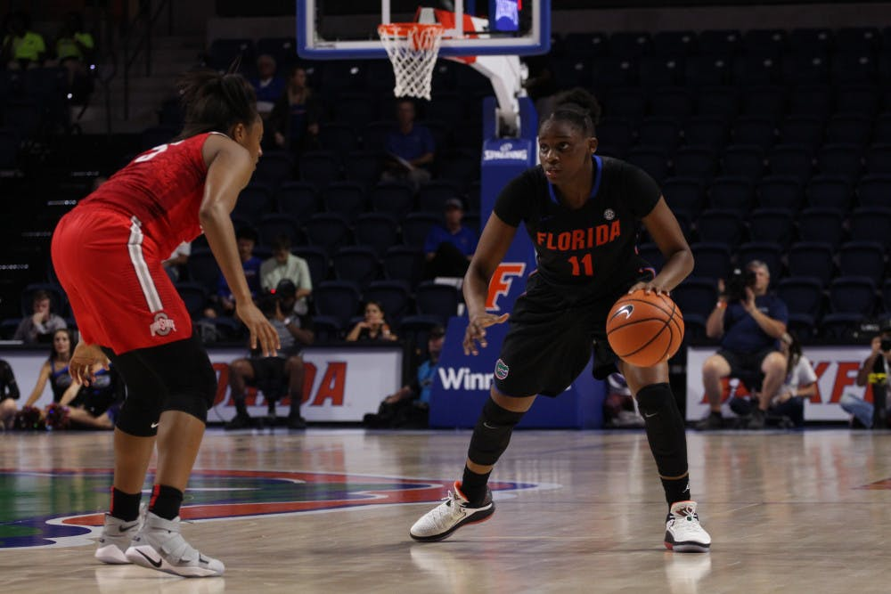 <p>Dyandria Anderson celebrated Senior Day by going 6 of 9 from the field for 16 points while dishing out four assists.</p>