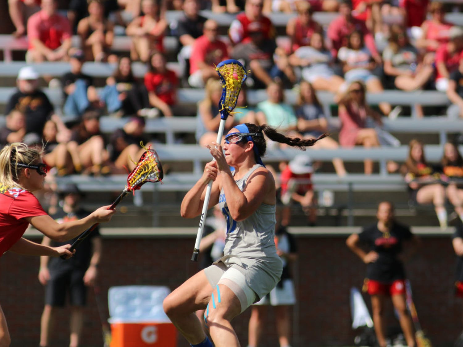 """Midfielder Shannon Kavanagh tied her career high of four goals Tuesday against Navy. """"She came in clutch,"""" Gators coach Amanda O'Leary said."""