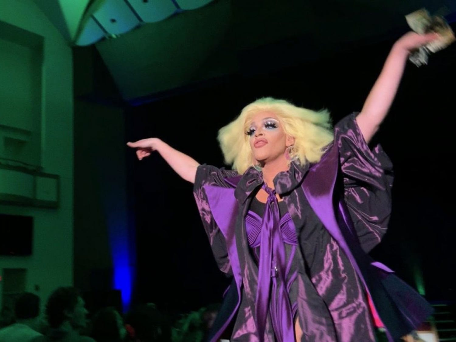"Ariel Versace, who competed on ""Rupaul's Drag Race,"" performs at the Phillips Center for the Performing Arts Saturday night"