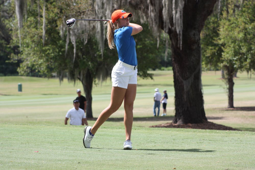 <p>Junior Sierra Brooks is in first place at Cougar Classic with a 7-under opening round.</p>