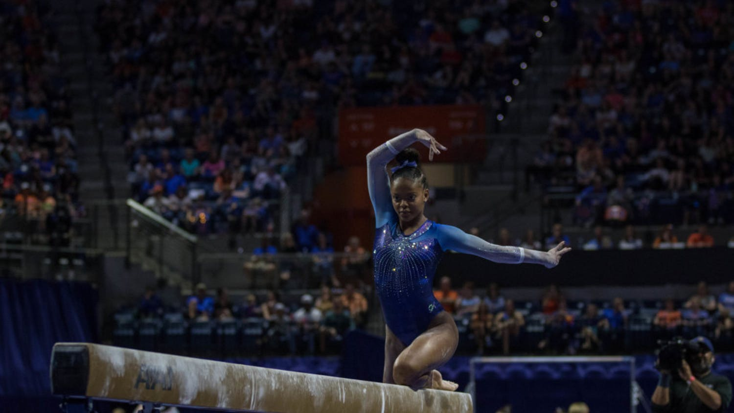 Trinity Thomas won six SEC Freshman of the Week awards and three SEC Gymnast of the Week awards during her freshman campaign at UF.