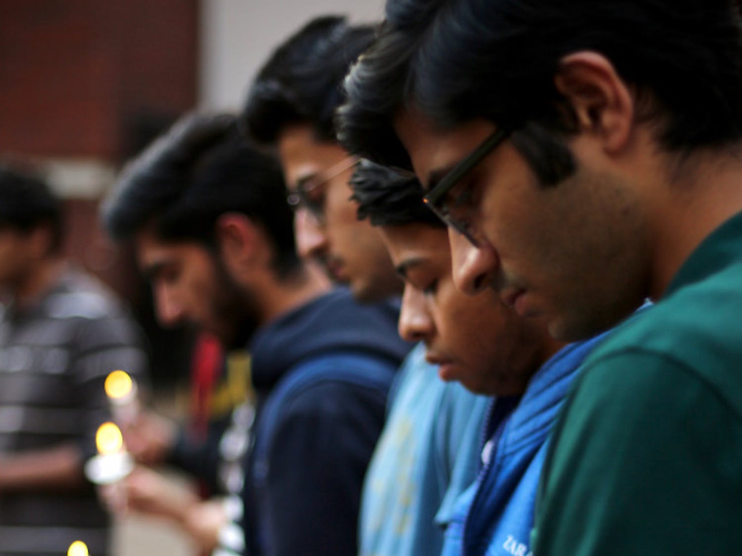 On Monday, about 100 stood on Turlington Plaza to mourn the death of KaranKhullar, a 22-year-old foreign exchange student who died on Feb. 11 after he was hit at a bus stop by a drunken driver, police said.