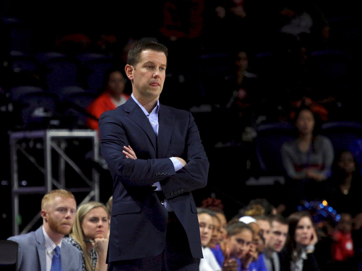 """""""You have to learn that in the SEC when you get punched you can't flinch, you can't falter,"""" said Gators women's basketball coach Cam Newbauer. """"We just kinda flinched a little bit at the wrong time and got away from what our game plan was."""""""