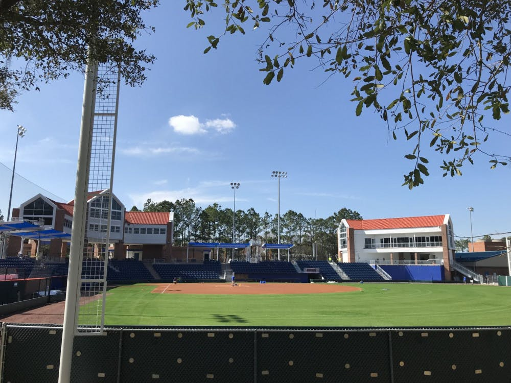<p>Katie Seashole Pressly Stadium, home of the UF softball team, can welcome 350 additional fans due to changes in the university's physical distance policy.</p><p></p>
