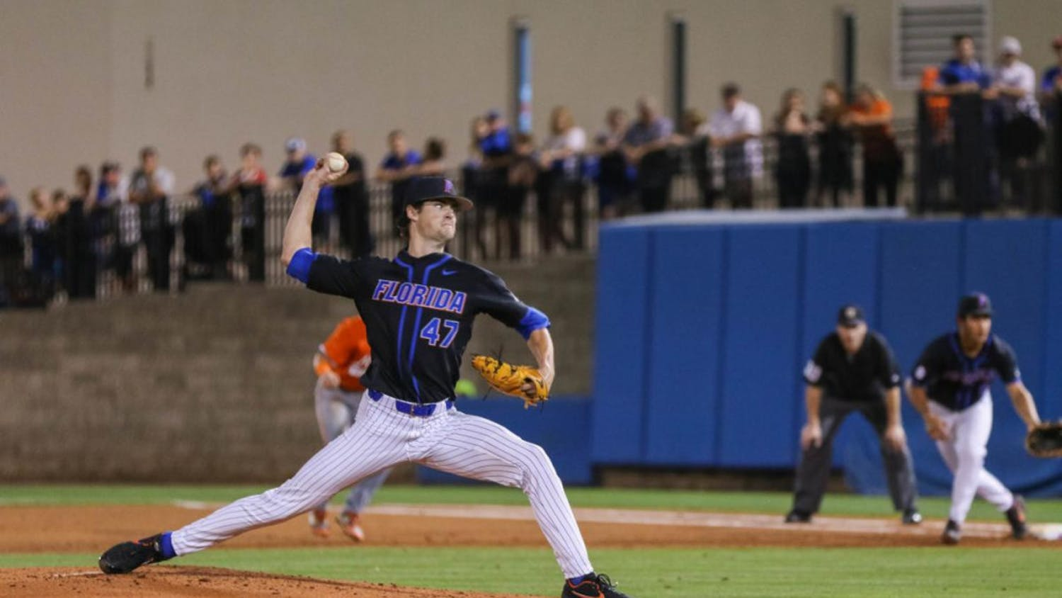 Tommy Mace strides towards home last season. The junior surrendered just two earned runs in seven innings in Game 1 against Florida A&M Friday night.