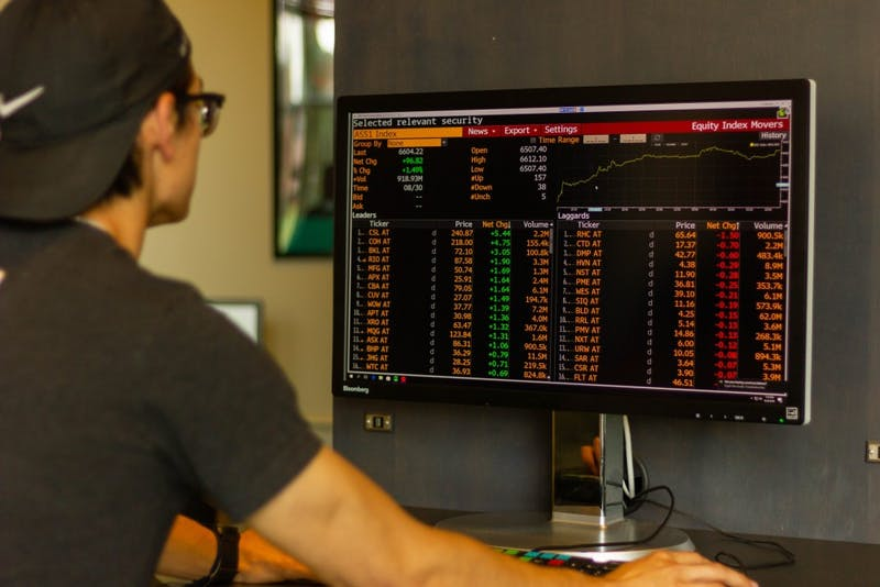 The tools found in the lab help students understand the stock market better.
