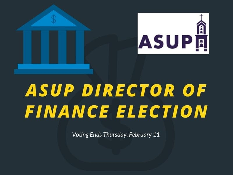 Voting for ASUP Director of Finance began Tuesday on Engage and ends Thursday at 4 p.m. 