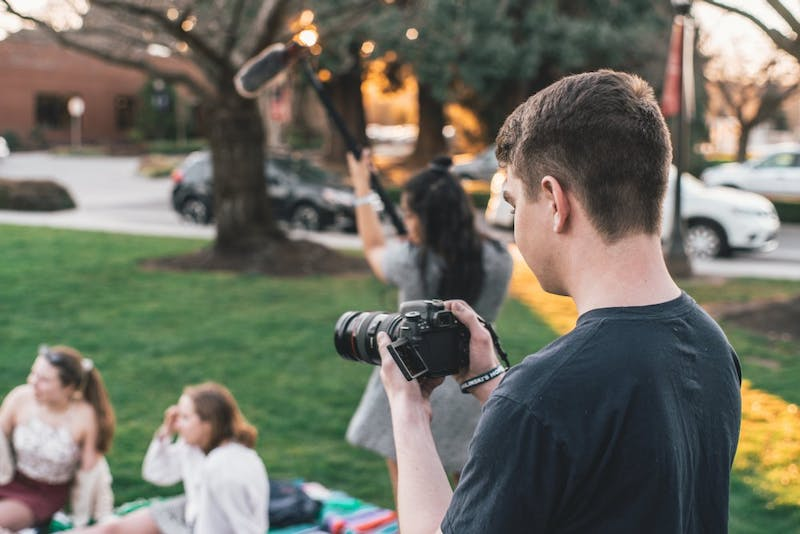 The student film festival will take place on April 13 in Franz 120. All students are welcome to submit videos, which are due by April 7. Photo illustration by Brennan Crowder.