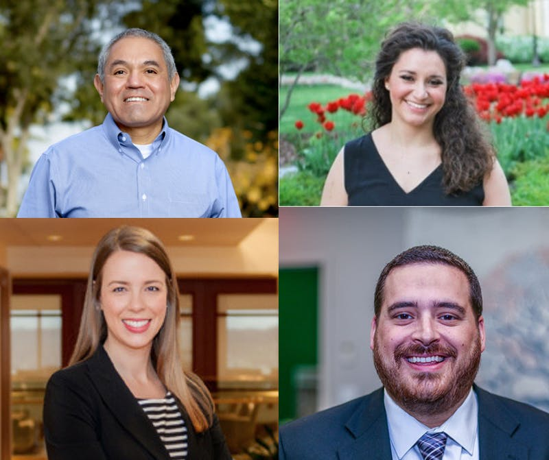 New staff have arrived on campus and others have been appointed or promoted to new positions. Photo Collage by Claire Desmarais