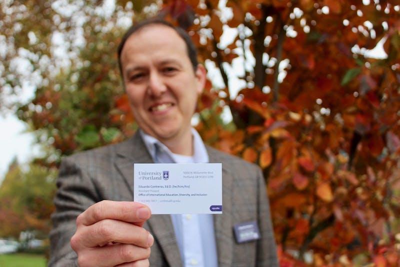 Dr. Eduardo Contreras kick-started the idea of including preferred pronouns on business cards.