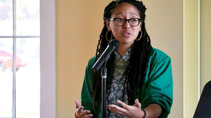 Poet and author Ariana Brown performed poetry through Zoom on Friday, October 1st.Photo via arianathepoet on Twitter.