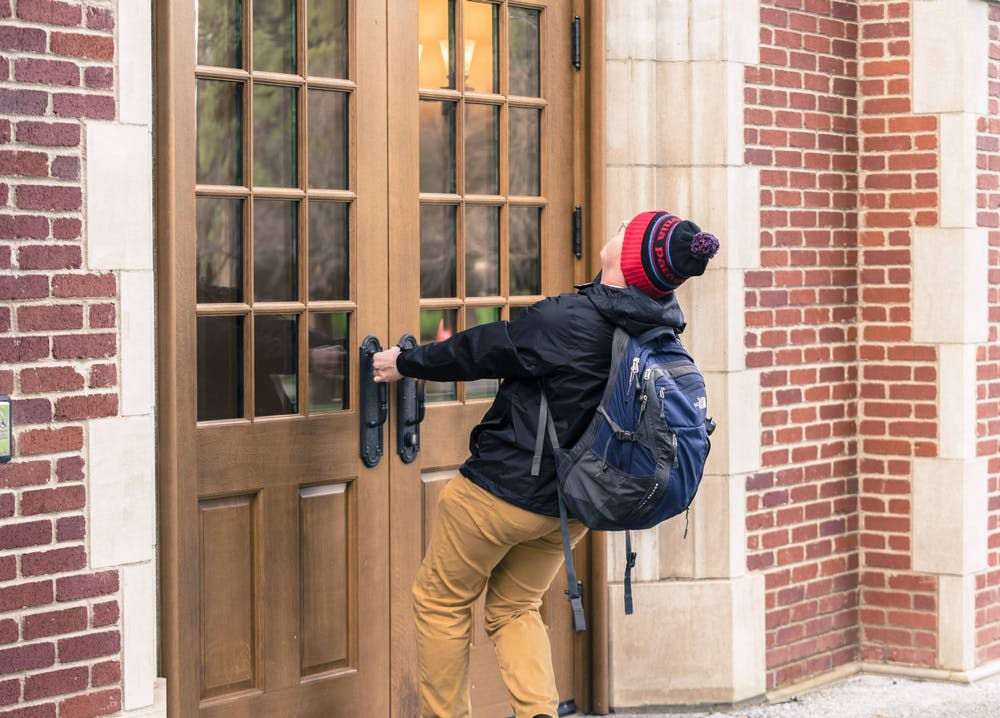 Buildings across campus will be restricted to ID access only during certain hours of the day in accordance to campus-wide safety and security updates. Photo Illustration by Brennan Crowder.