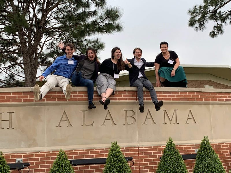 The UP Bioethics team traveled to the University of South Alabama to compete in the National Bioethics Bowl Championships. Photo Courtesy of Jeff Hayashi
