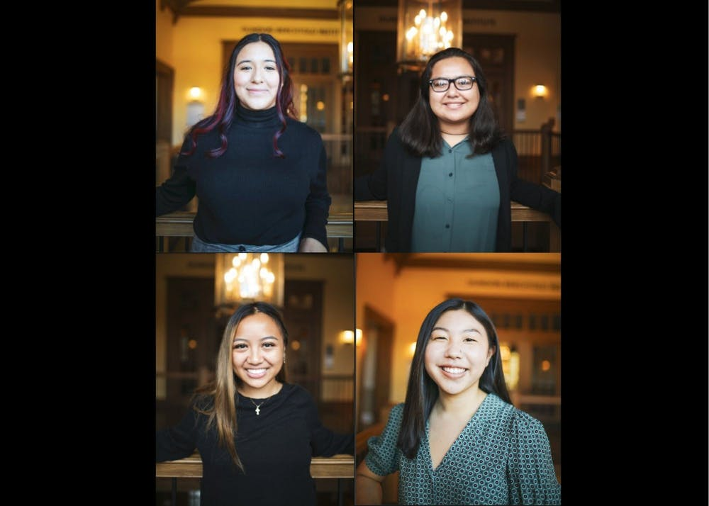 Diversity Collaborators. Clockwise starting at top left: Dani Perez Vargas, Carolina Cortes, Peytynn Kubo, and Jayla Fernandez. Photos courtesy of Dani Perez Vargas, Carolina Cortes, Peytynn Kubo, and Jayla Fernandez.
