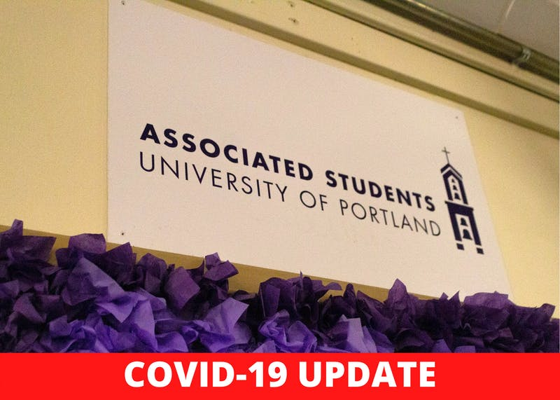 The Associated Students of the University of Portland released a statement criticizing the Administration's lack of transparency amid the novel coronavirus. Photo by Jennifer Ng, Canva Created by Claire Desmarais