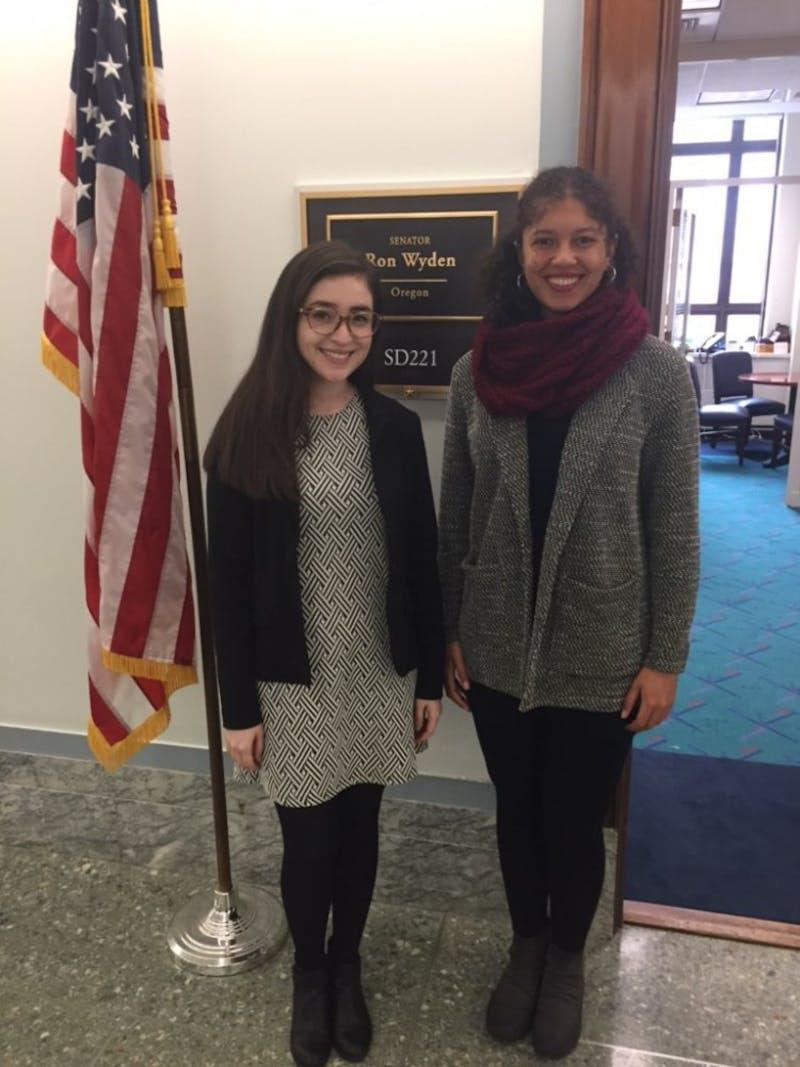 Anaceli Mejia (left) and Danielle Dillard (right). Photo courtesy of Anaceli Mejia.