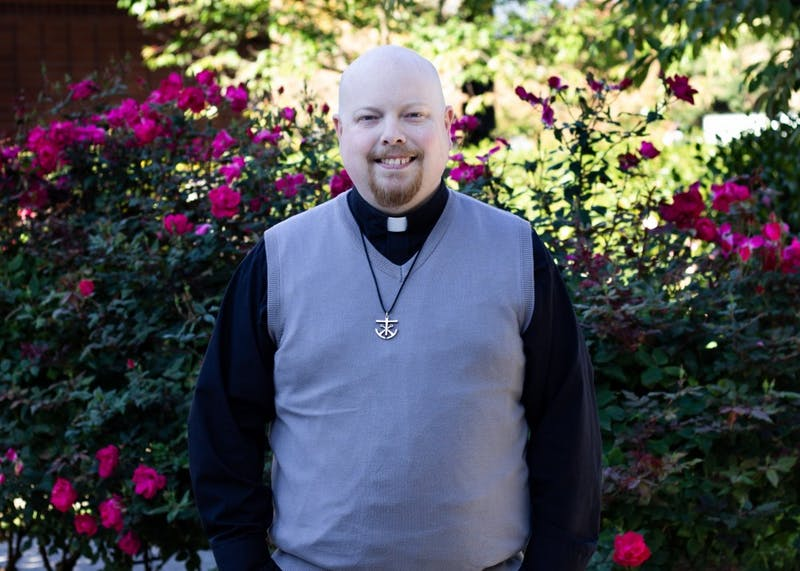 Rev. Tim Weed is the program director for liturgy and pastoral resident of Shipstad Hall. Weed was just ordained a priest back in April this year.