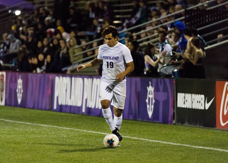 Freshman Jacobo Reyes was a steady presence for the Pilots on the pitch this season.